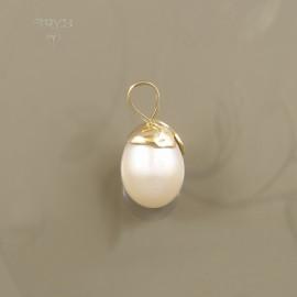 Piękna zawieszka z dużą perłą