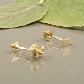 Hand made leaves earrings of gold