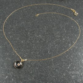 Space inspired necklace of gold