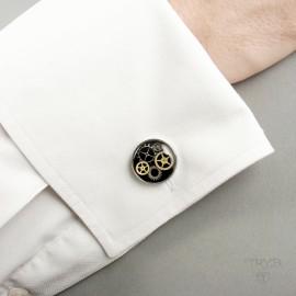 Classic black cufflinks