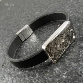 Sterling silver unique bracelet for him