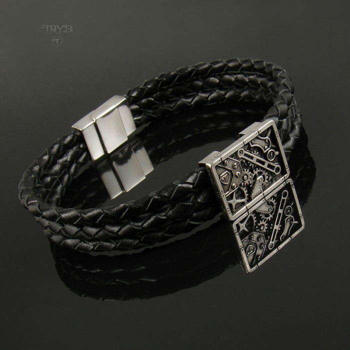 Quality steampunk men's bracelet