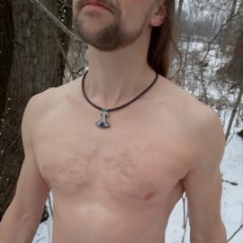 Ręcznie robiony naszyjnik młot Thora Mjolnir
