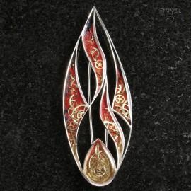 Fire brooch