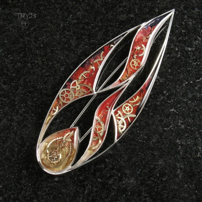 The flame of faith - unique brooch