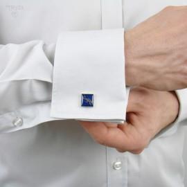 Navy blue cuflinks