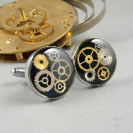 Quality steampunk cufflinks