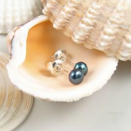 Blue ear studs