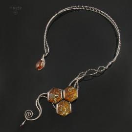 Art jewelry of sterling silver