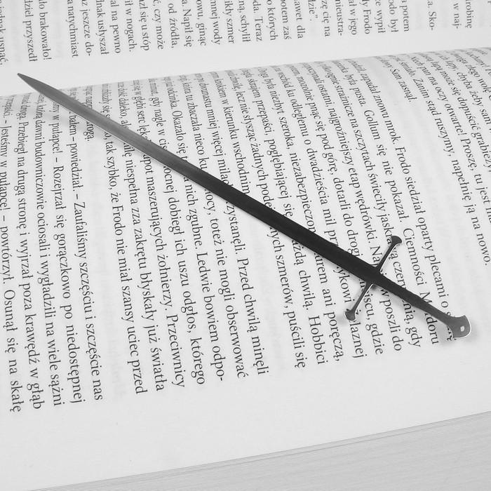 Metalowa zakładka do książki miecz królów