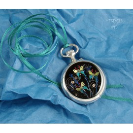 Artistic jewelry of watch parts