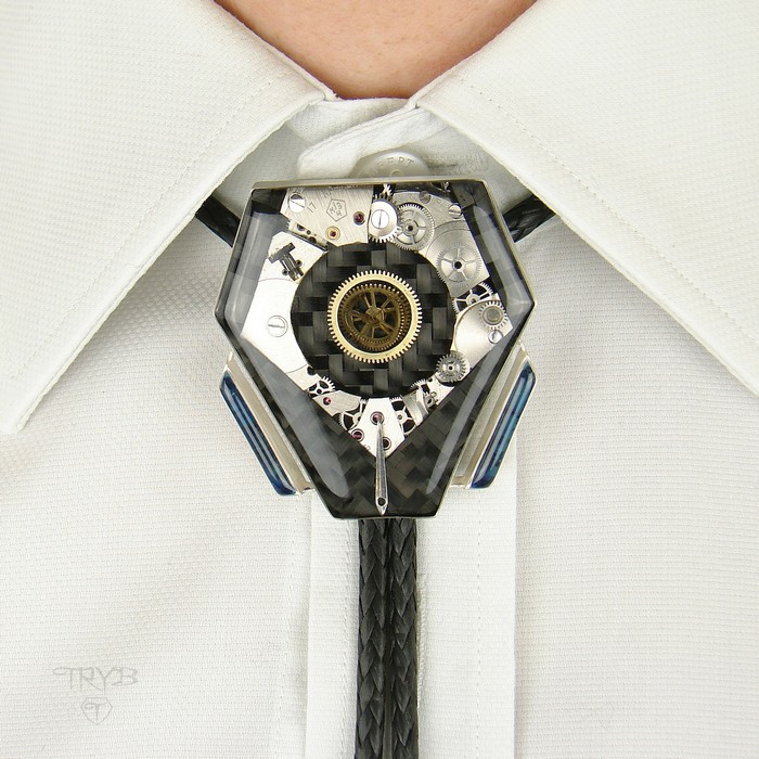 Industrial style bolo tie made to order