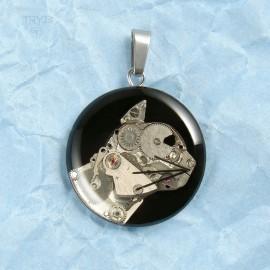 Hand made cat pendant