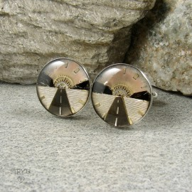 Sterling silver cufflinks for a traveler