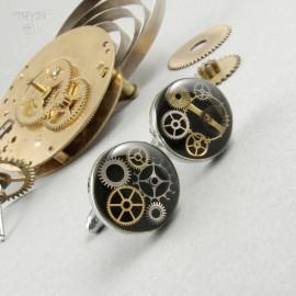 Quality steampunk cufflinks
