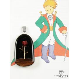 """The Little Prince"" ephemeral rose pendant"