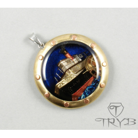 River steamer pendant in a steampunk climate