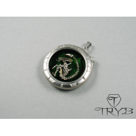 Hand made pendant with...