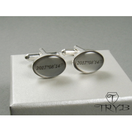 Wedding cufflinks with a date / geographical coordinates