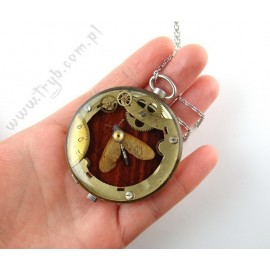 Steampunk moth locket