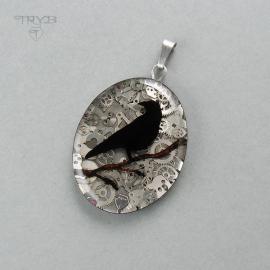 The raven - handmade pendant