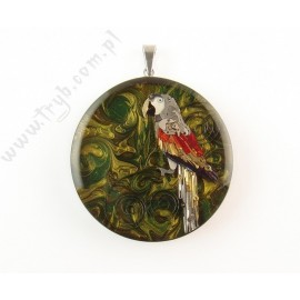 Unique Ara parrot pendant