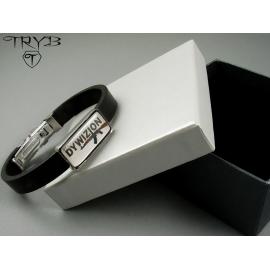 Custom made men's bracelet with logo