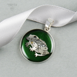 Zawieszka żaba ze srebra