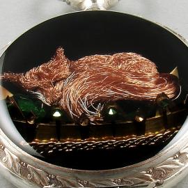 Miniaturowa rzeźba lis z drucika nawojowego z cewki elektrycznej