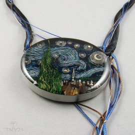 """Starry Night"" necklace sculpture"