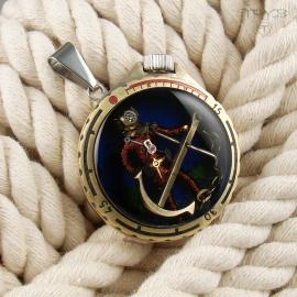 Vintage deep-sea diver pendant