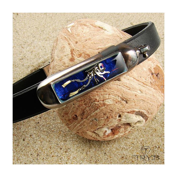 Hand made men's diver bracelet