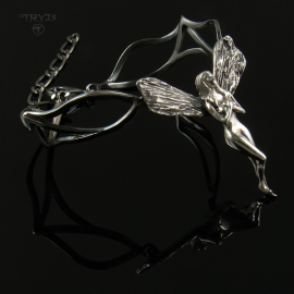Sterling silver elf bracelet