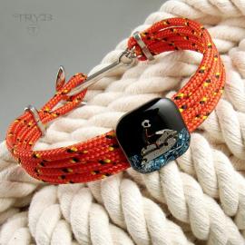 Men's bracelet on a sailing rope