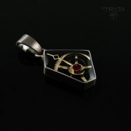 Asymmetric pendant from...