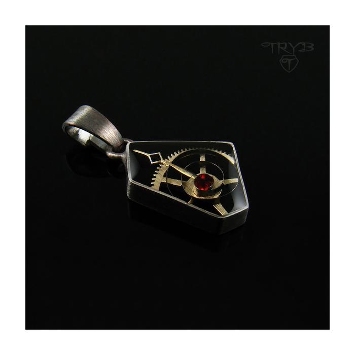 Geometryczny wisiorek srebrny
