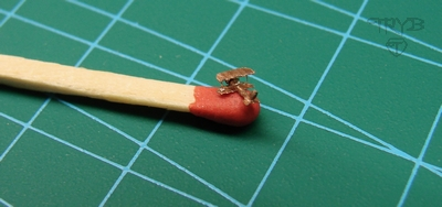 Miniature biplane sculpture