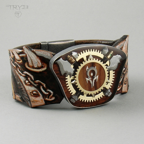 Original, custom made men's bracelet refering to the computer game
