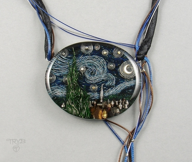 Starry night necklace - quality custom made jewelry
