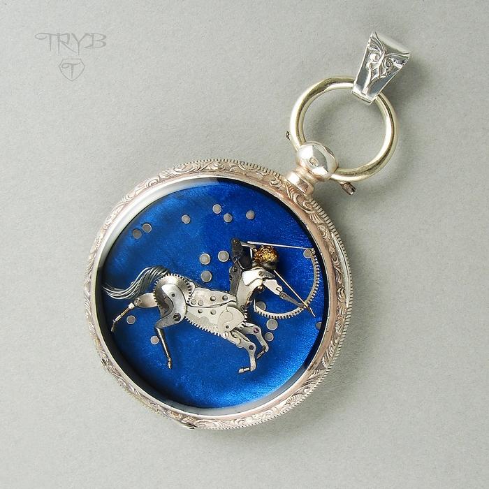 Unique Sagittarius pendant